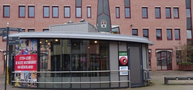 Eerste AED van st Hartveilig Etten-Leur, gedoneerd door JCI Etten-Leur, onthuld. De kop is eraf Etten-Leur wordt een 6 minuten AED gemeente!
